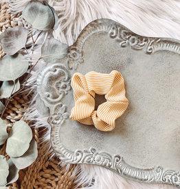 Mustard Striped Scrunchie