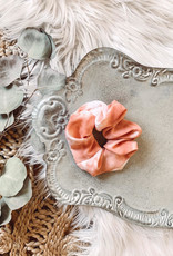Peach Tie Dye Scrunchie