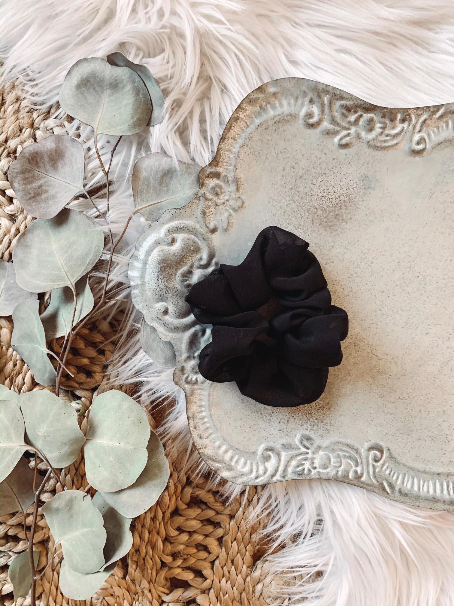 Sheer Black Scrunchie