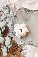 Sheer Cream Scrunchie