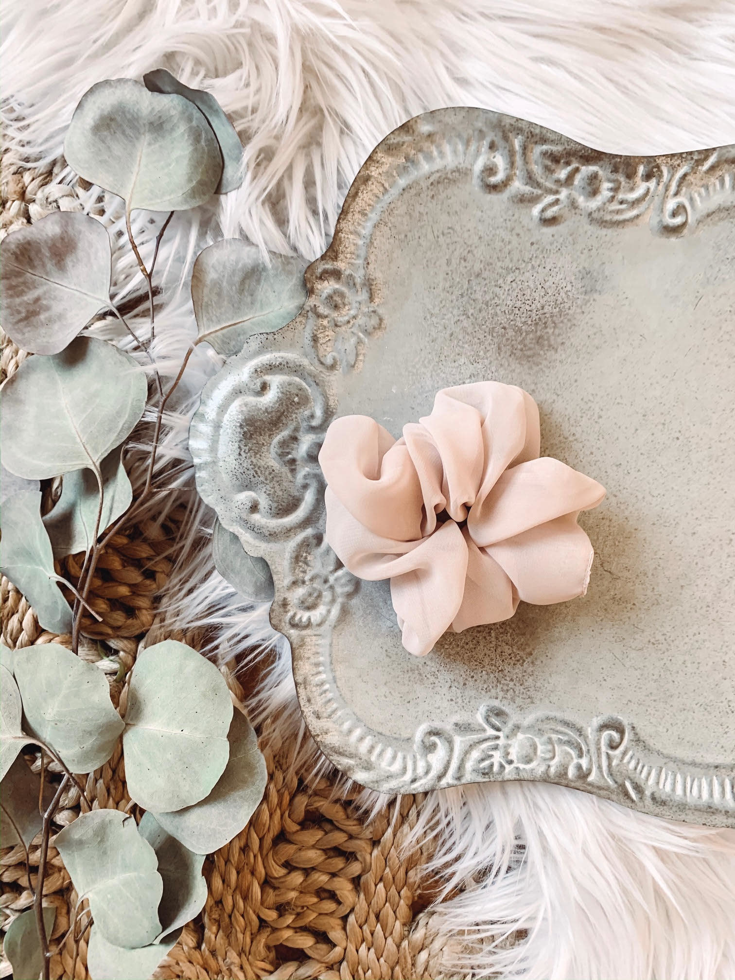 Sheer Taupe Scrunchie