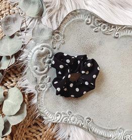 Lauren Black Polka Dot Scrunchie
