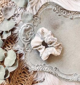 Cream Snakeskin Scrunchie