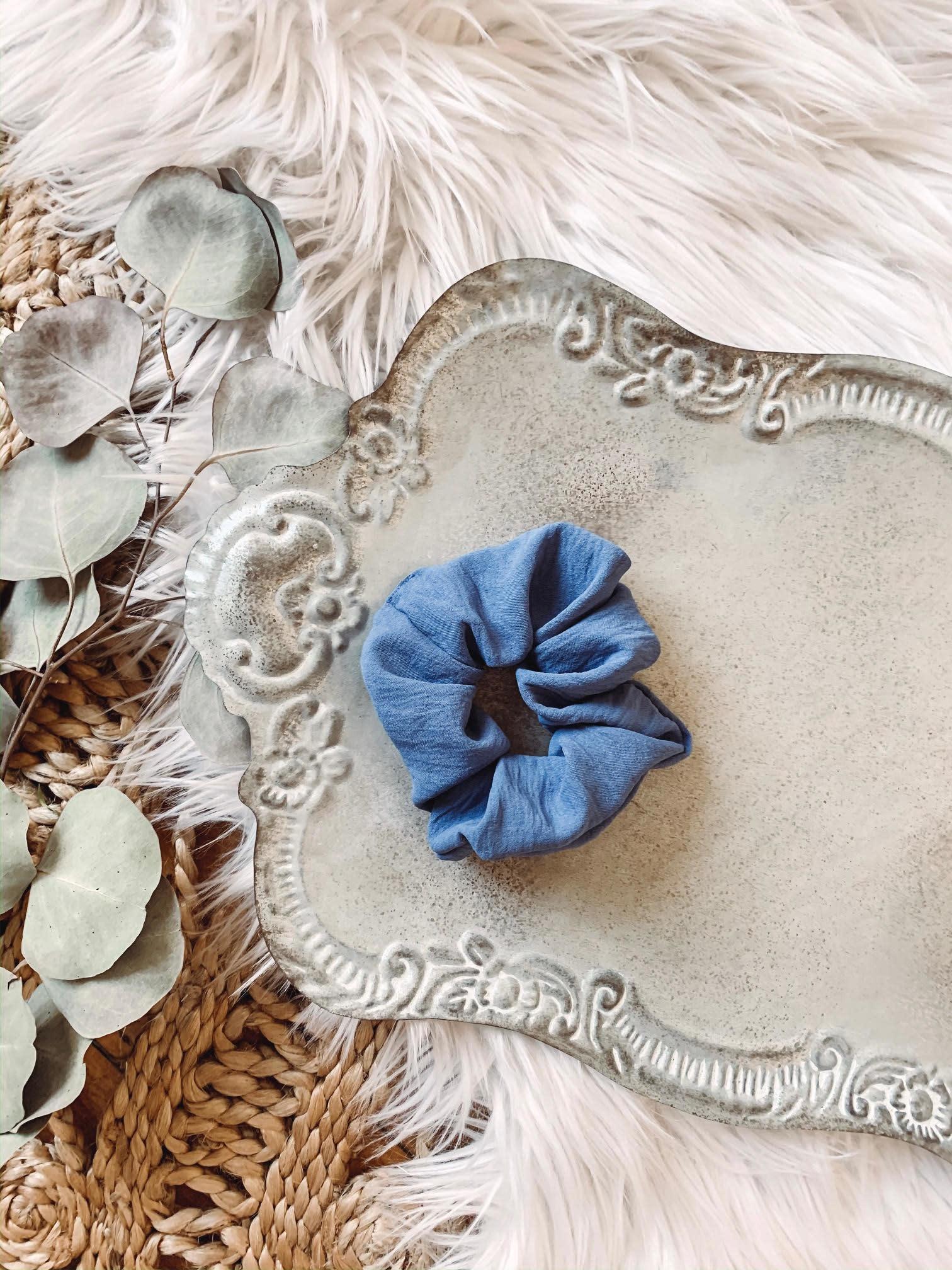 Slate Blue Scrunchie