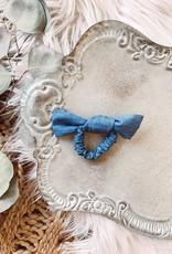 Chambray Bow Scrunchie