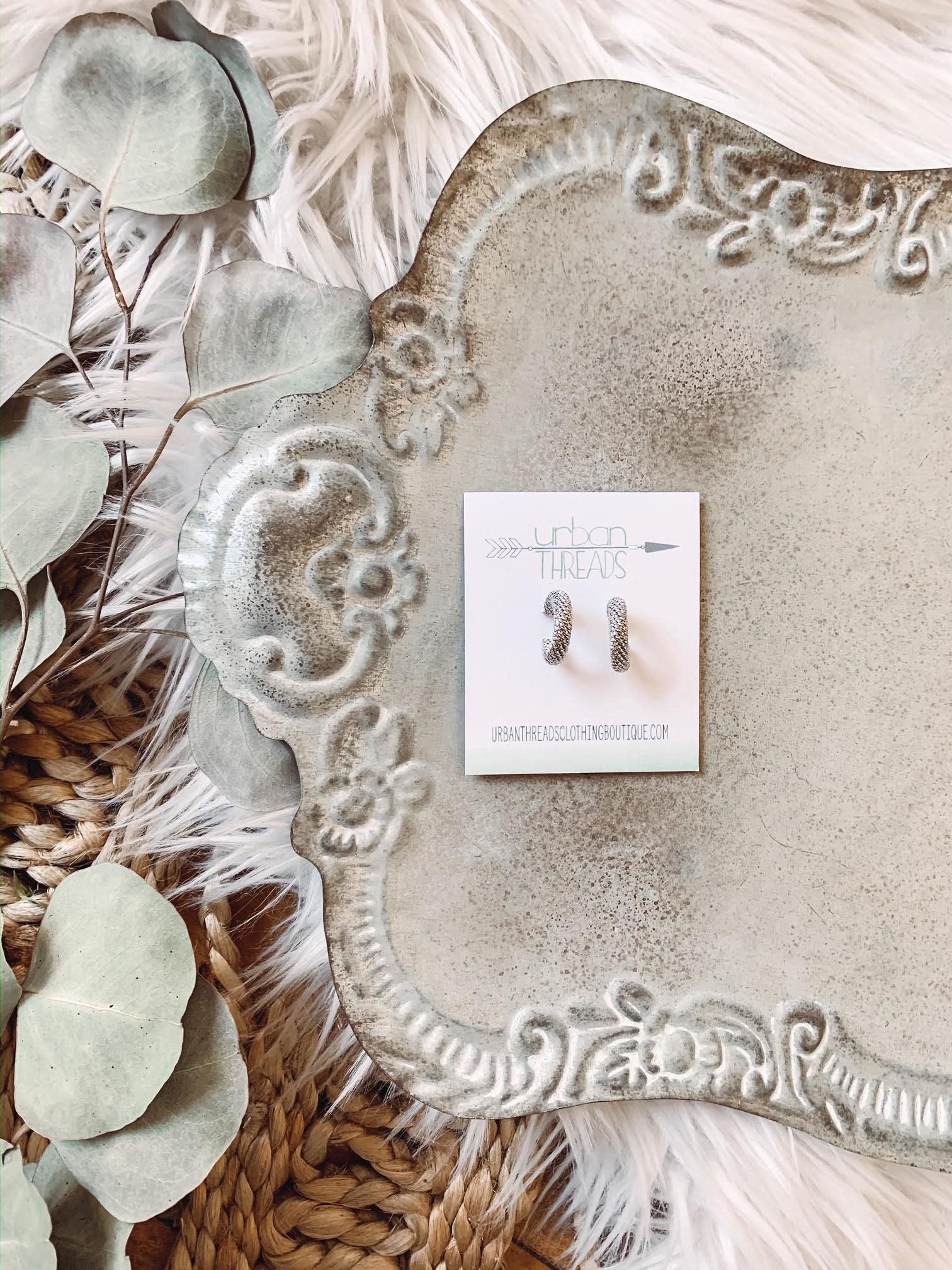 Ezra Silver Earrings