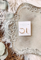 Maddie Hammered Gold Earrings