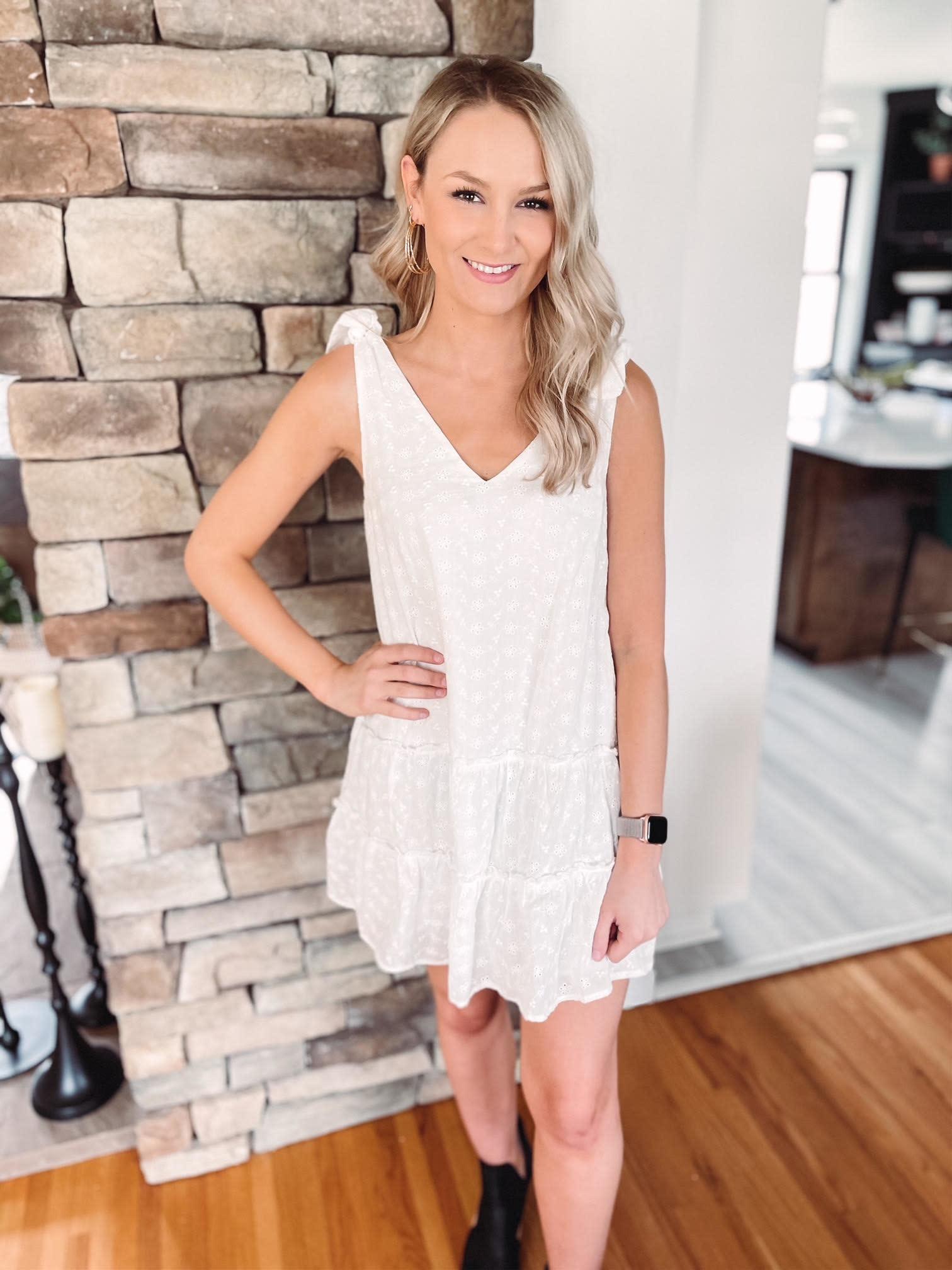 Bailey White Eyelet Dress