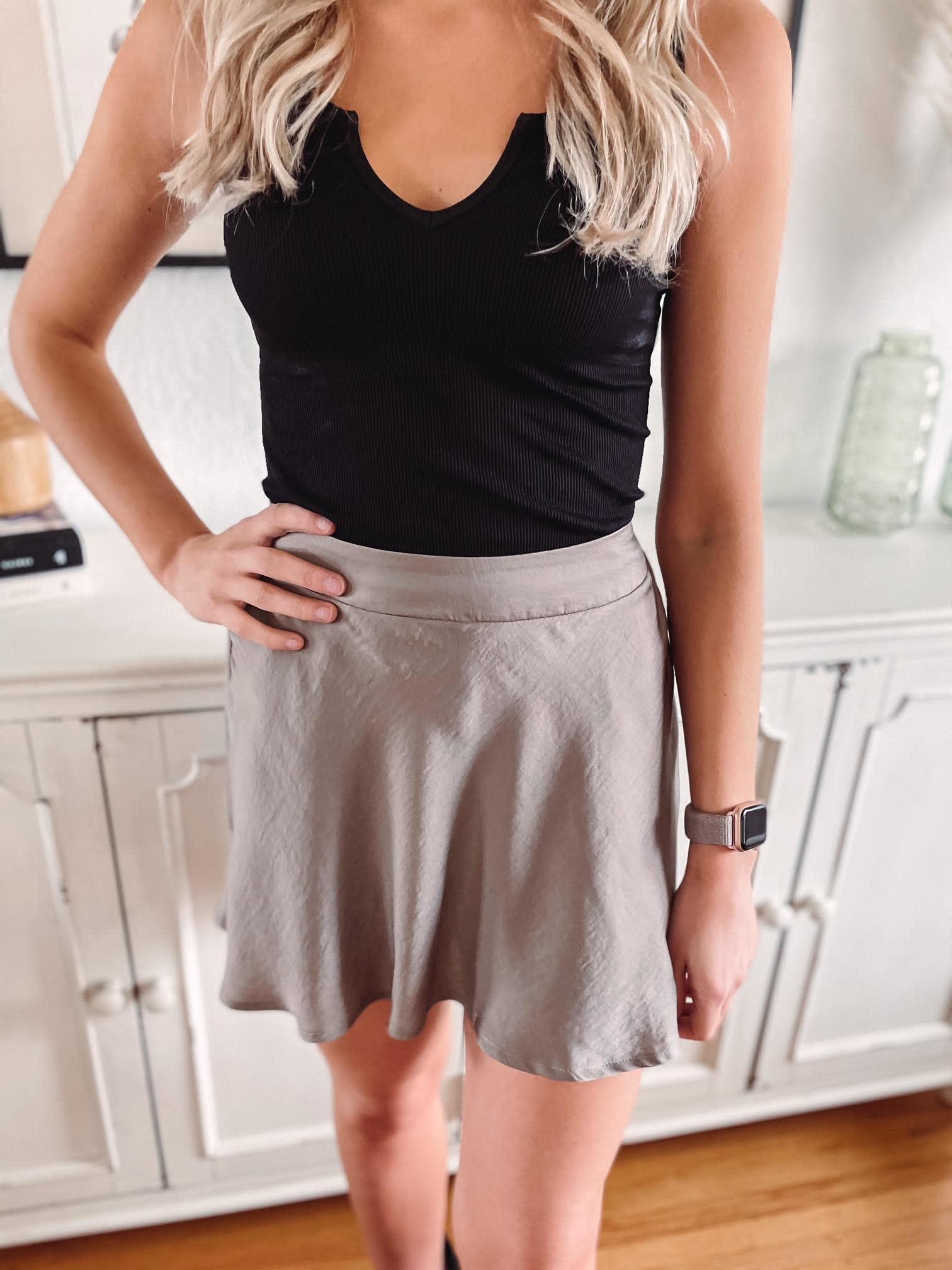 Madelyn Stone Satin Skirt