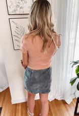 Jessi Denim Side Button Skirt