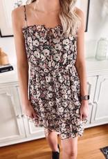 Cora Black Floral Dress