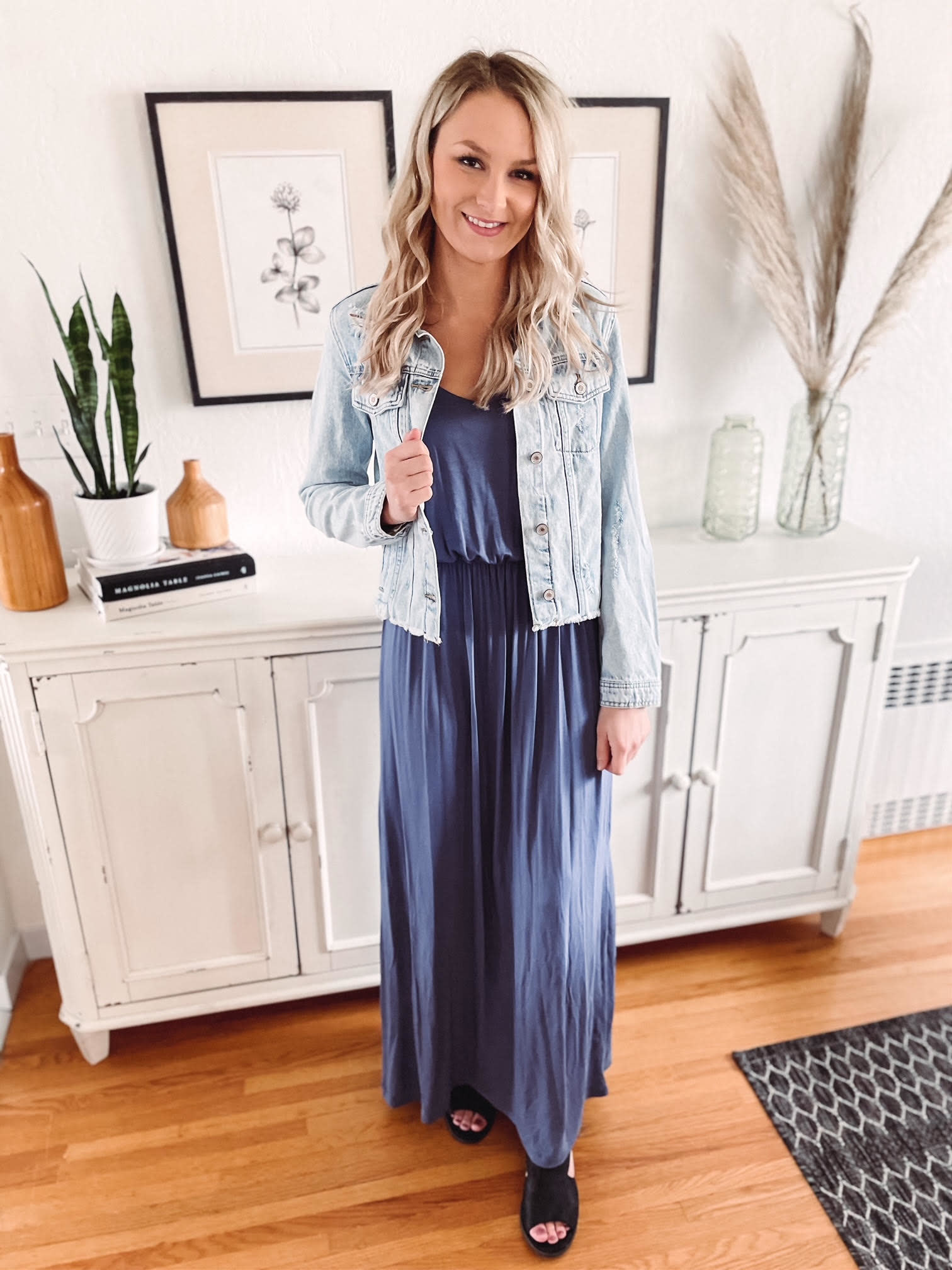 Jessika Blue Maxi Dress