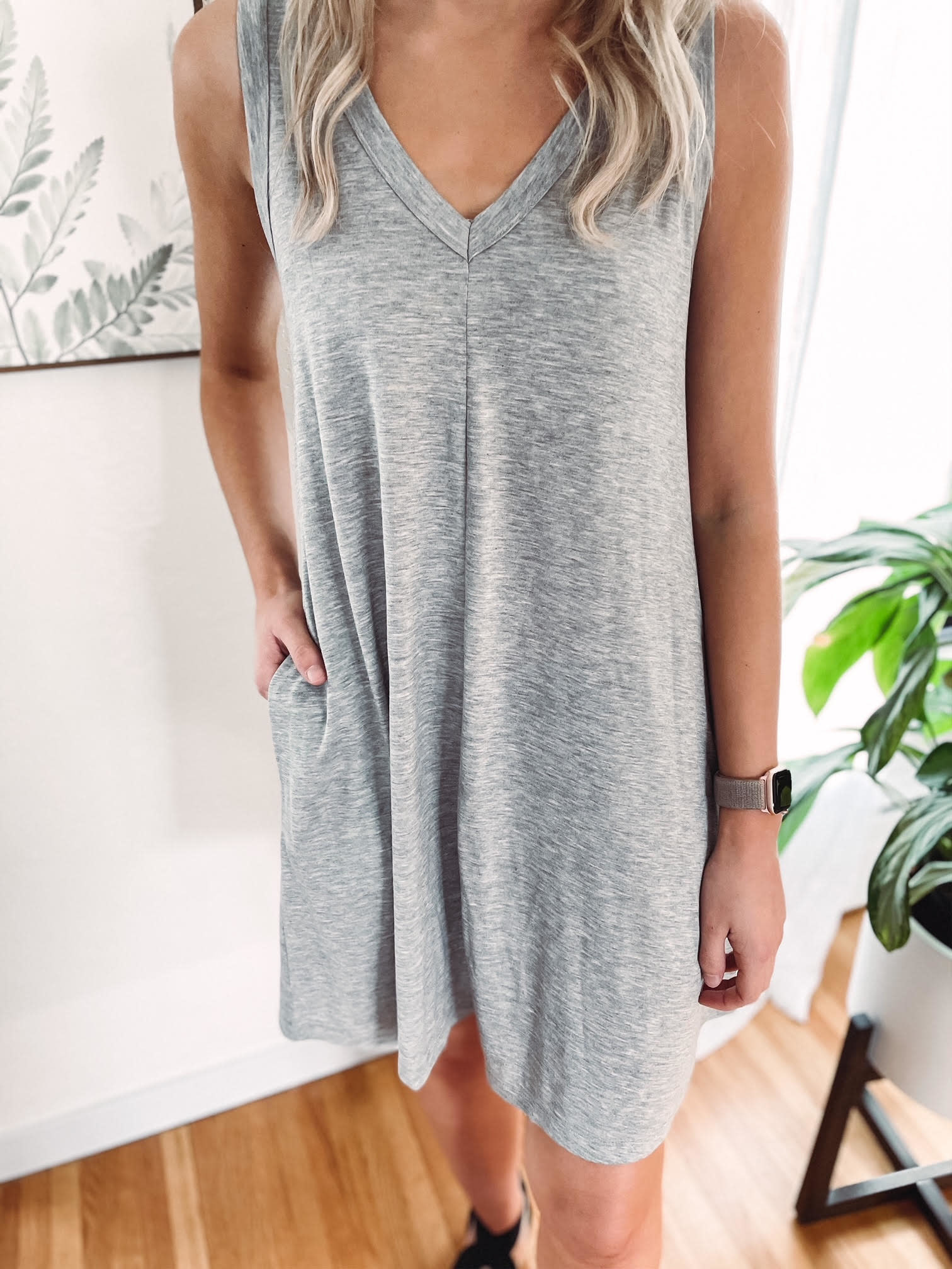 Leslie Grey Dress