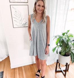 Leslie Grey Dress
