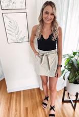 Emma Taupe Belted Skort