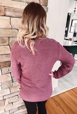 Mama Corded Maroon Sweatshirt