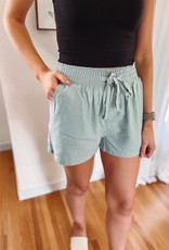 Molly Mint Tie Waist Shorts
