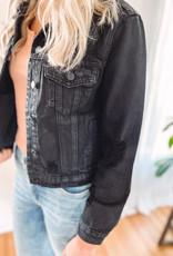 Hali Black Distressed Jacket