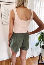 Molly Olive Tie Waist Shorts