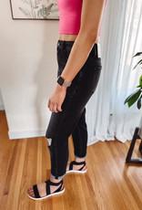Luna High Rise Black Mom Jeans