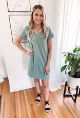 Kinsley Sage T-Shirt Dress