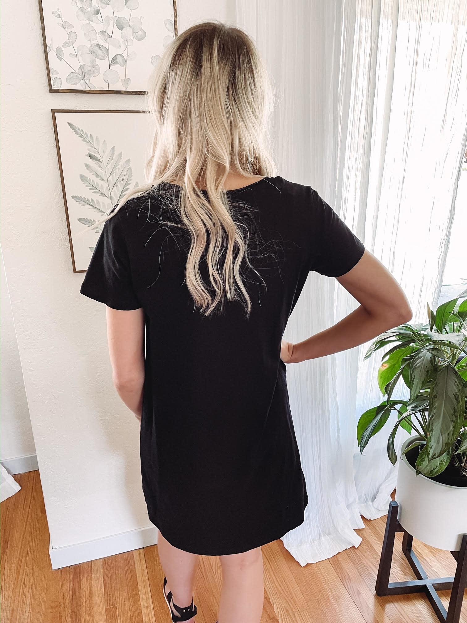Kinsley Black T-Shirt Dress