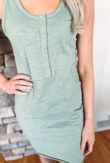 Gretta Sage Pocket Dress