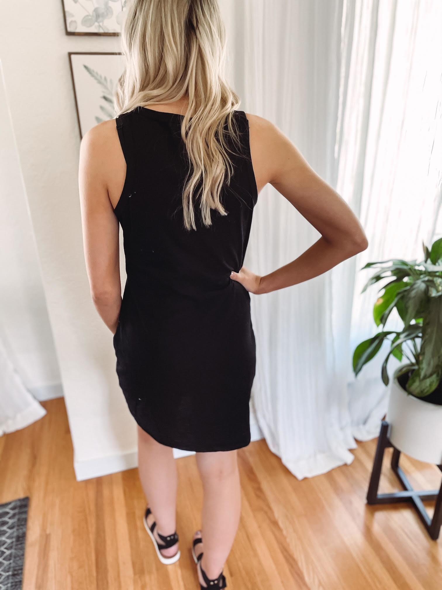 Gretta Black Pocket Dress