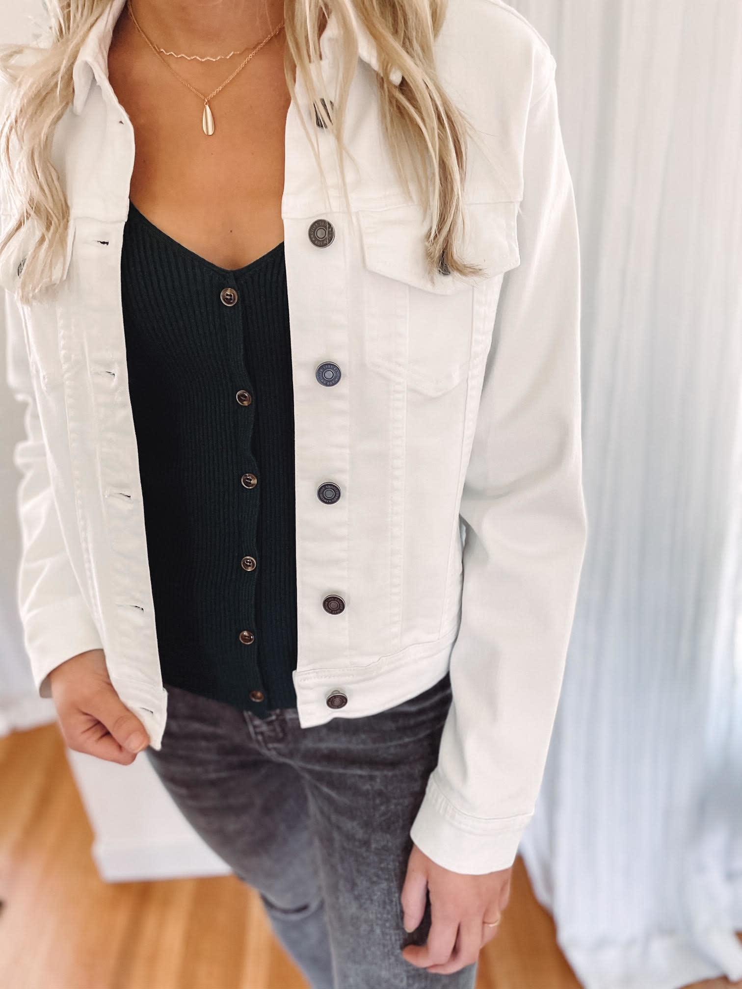 Macyn White Denim Jacket