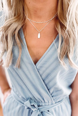 Kelsey Silver Layered Chain Necklace