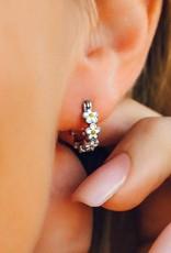 PuraVida Painted Blooms Hoop Earring