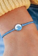 PuraVida Make Waves Blue Charm Bracelet
