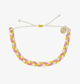 PuraVida Strawberry Lemonade Braided Bracelet