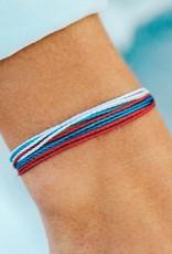 PuraVida Red, White + Blue Bracelet
