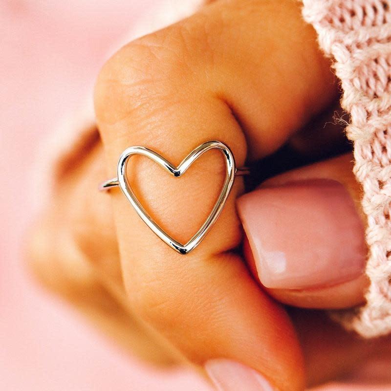 PuraVida Silver Statement Heart Ring