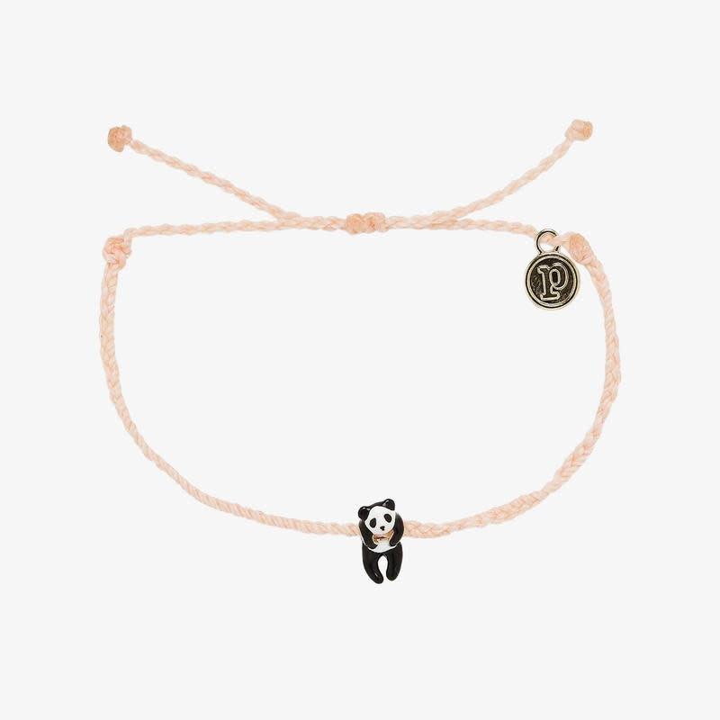 PuraVida Panda Blush Charm Bracelet