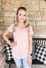 Leah Blush Short Sleeve Top