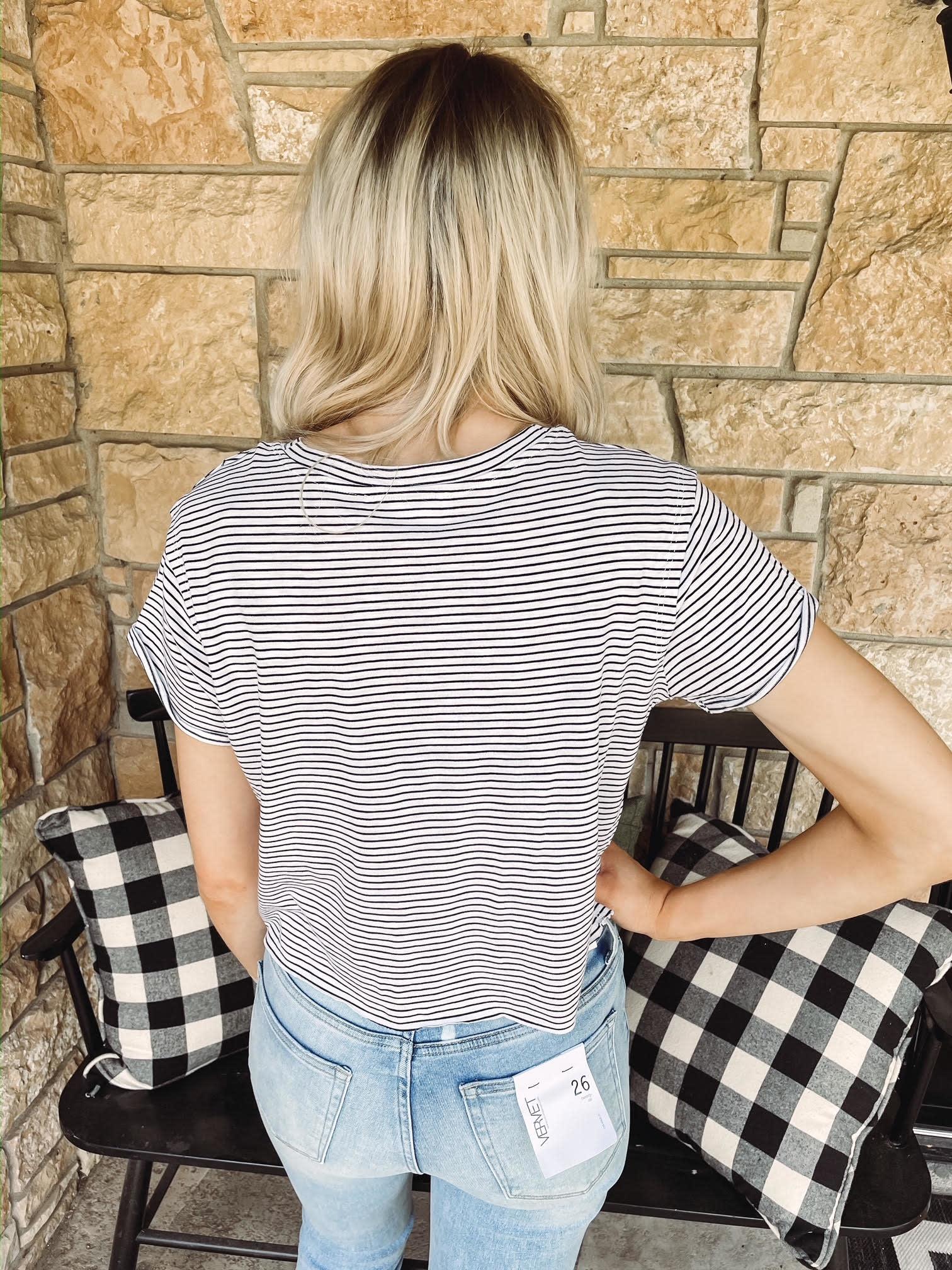 Nikki Striped Crop Top