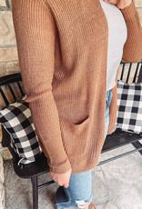 Corley Camel Pocket Cardigan