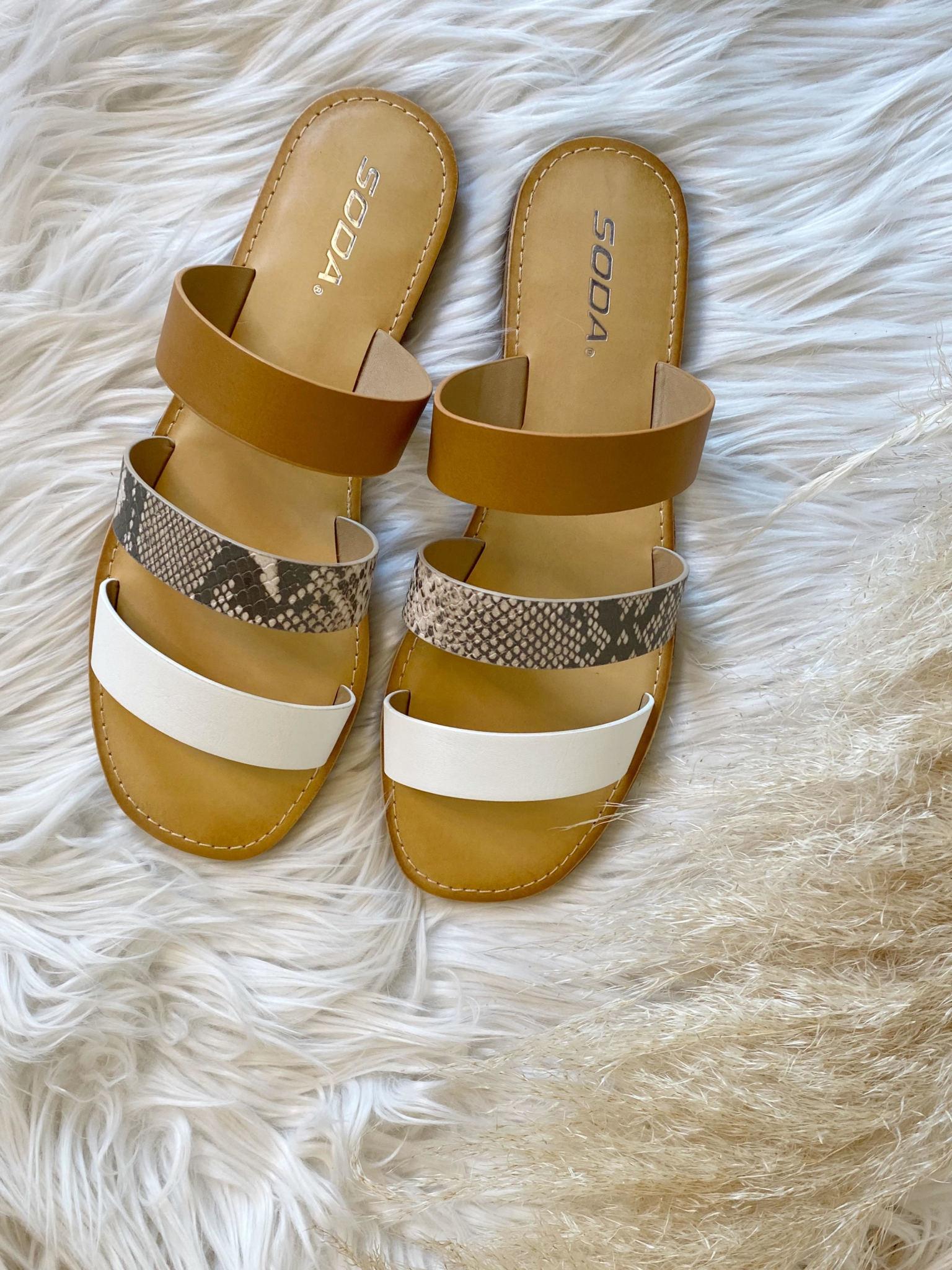 Gianna Snakeskin Sandal