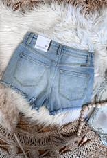 Sylvie High Rise Frayed Shorts