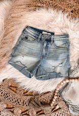 Hazel High Rise Distressed Shorts