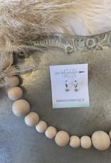 Silver Stars Dangle Earrings