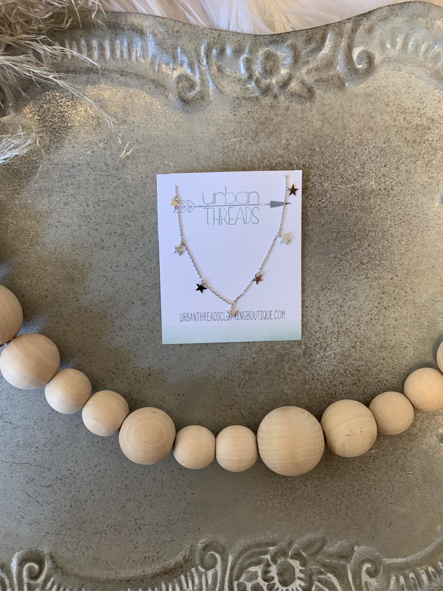 Ally Silver Stars Necklace