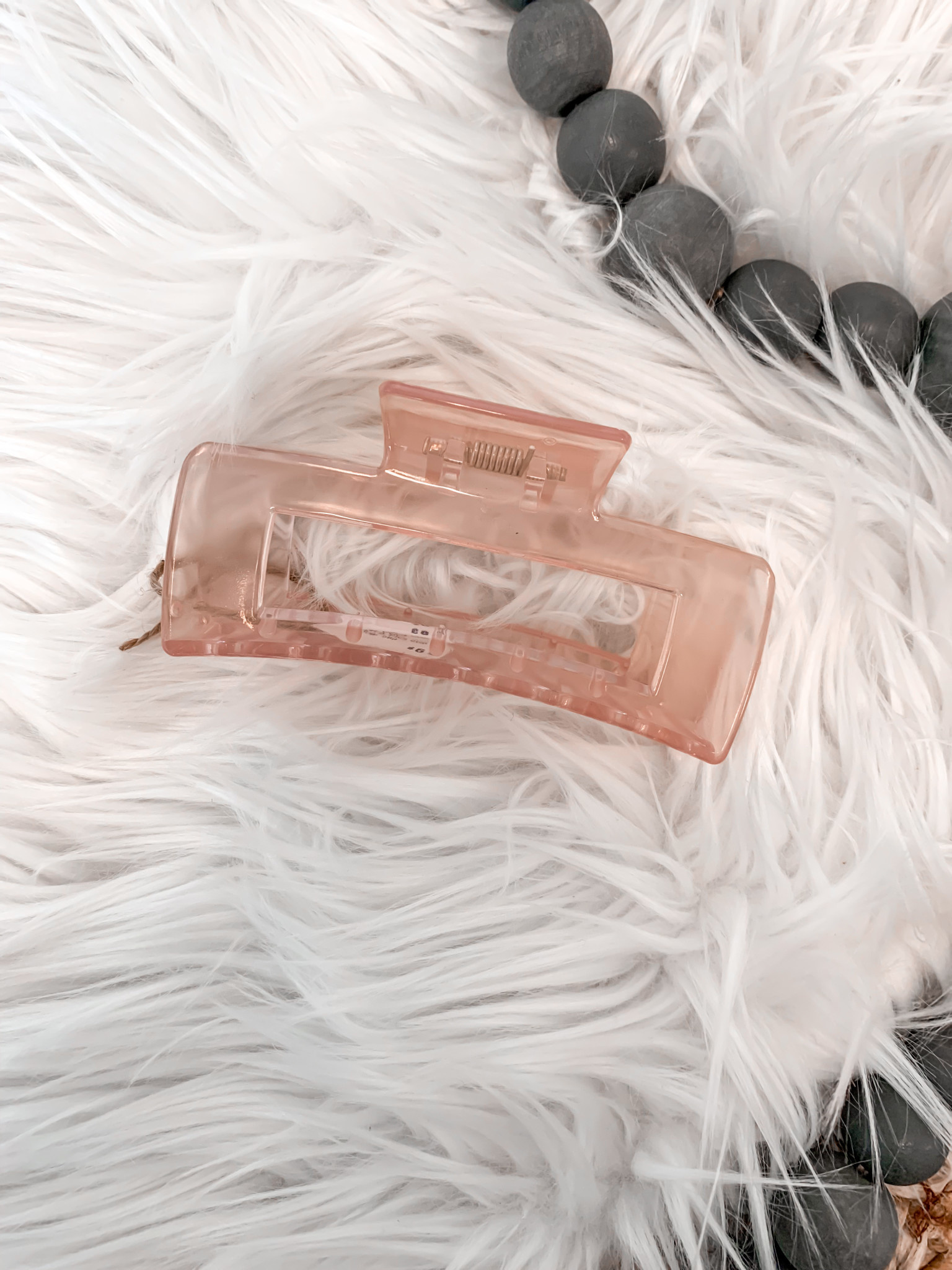 Clear Pink Claw Hair Clip