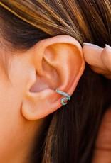 Silver Stone Wave Ear Cuff