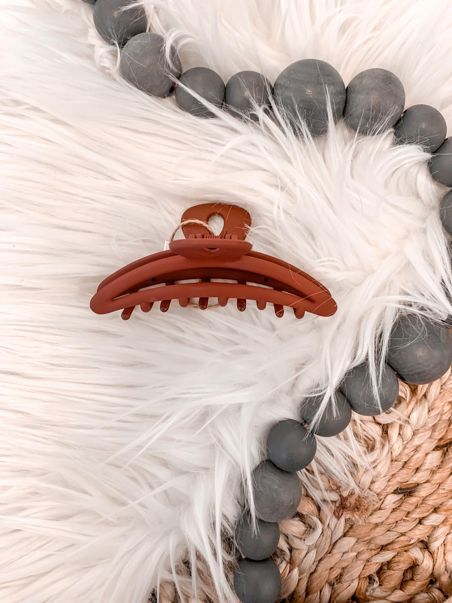 Maroon Matte Hair Claw Clip