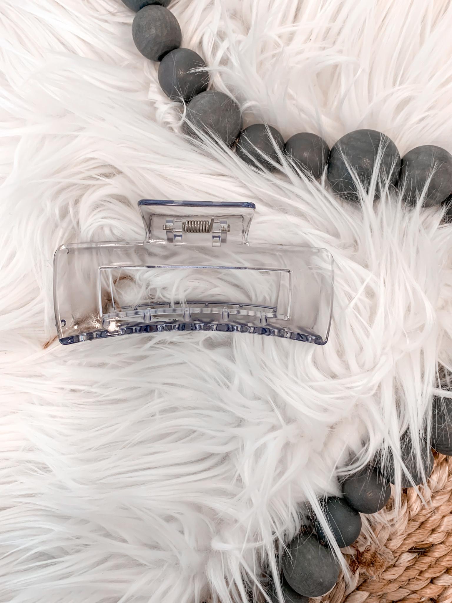 Clear Blue Claw Hair Clip