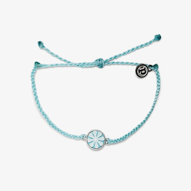 PuraVida Ice Blue Cameo Charm Bracelet