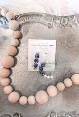 Laiken Blue Pearl Earrings